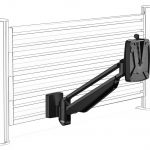 Clu I monitor arm slatwall black