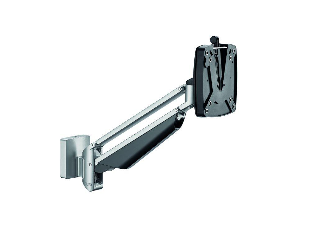 Clu I monitor arm slatwall silver